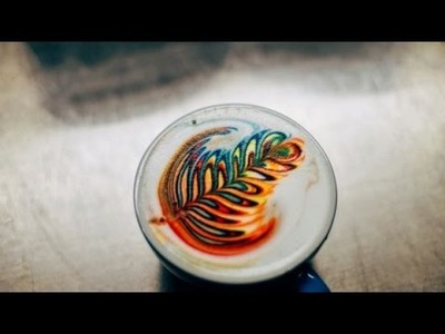 How to make rainbow latte art