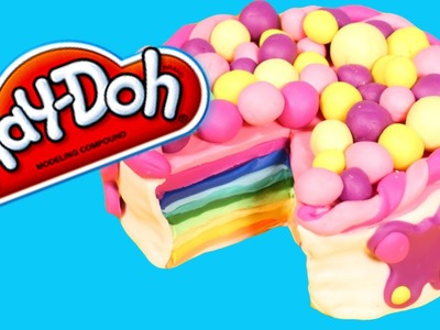 How to Make your own *Play Doh* Rainbow Cake!!!!!!