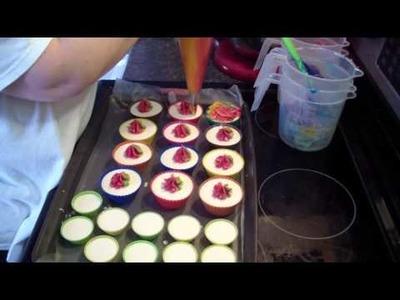Making Fruit Loops Rainbow Cupcake Soaps