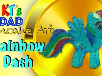 Pancake Art: My Little Pony (MLP) Rainbow Dash - KT's Dad