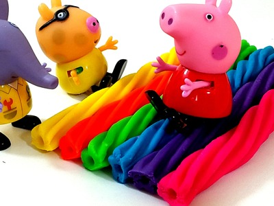 Peppa Pig Family Watching Play Doh How To Make Rainbow Licorice