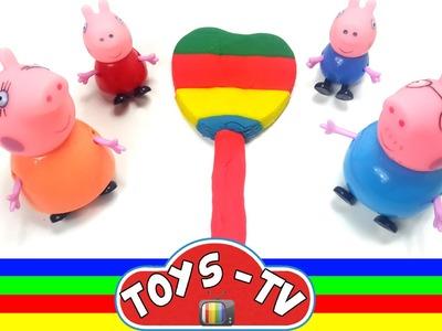 Play Doh !! Ice Cream Heart Rainbow ice Cream Peppa Pig Ice Cream