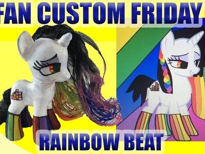 Rainbow Beat Pony || FAN CUSTOM FRIDAY #3 || Custom OC Pony Giveaway & Tutorial