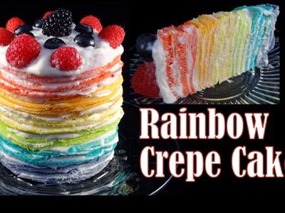 Rainbow Pancake (Crepe) Cake- with yoyomax12