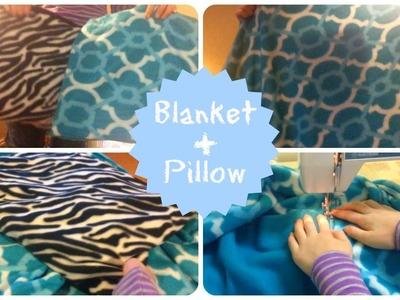 2 IN 1! Blanket + Pillow!