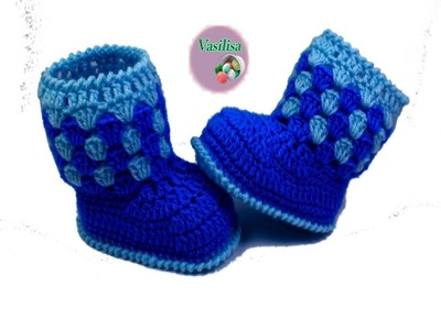 Baby booties crochet for beginners