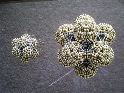 Bubble Icosahedrons Compared (Ball Magnets)
