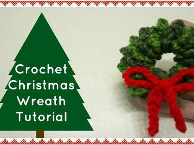 Crochet Christmas Wreath   Quick