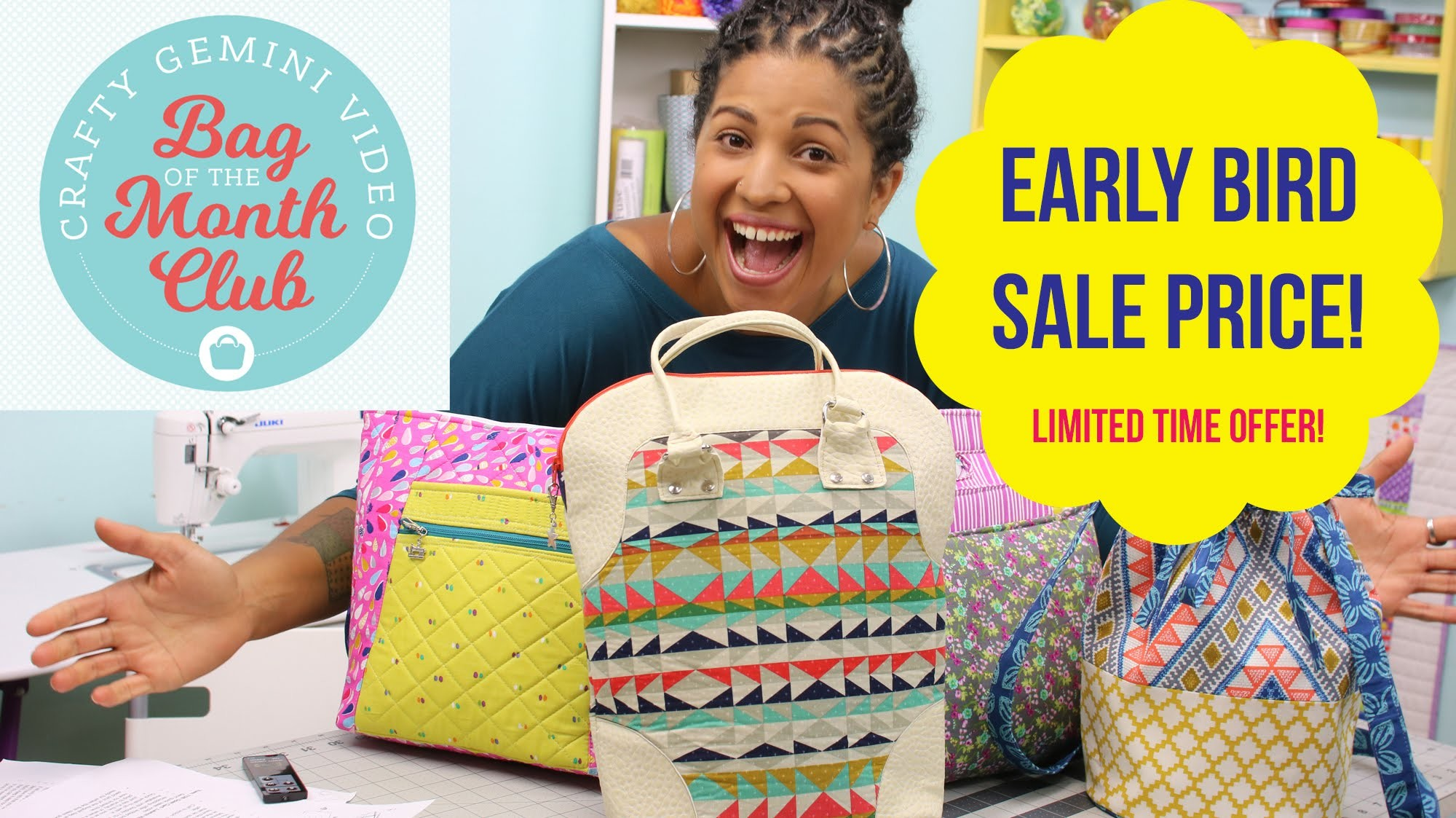 EARLY BIRD Sale Price for Bag of the Month Club by Crafty Gemini