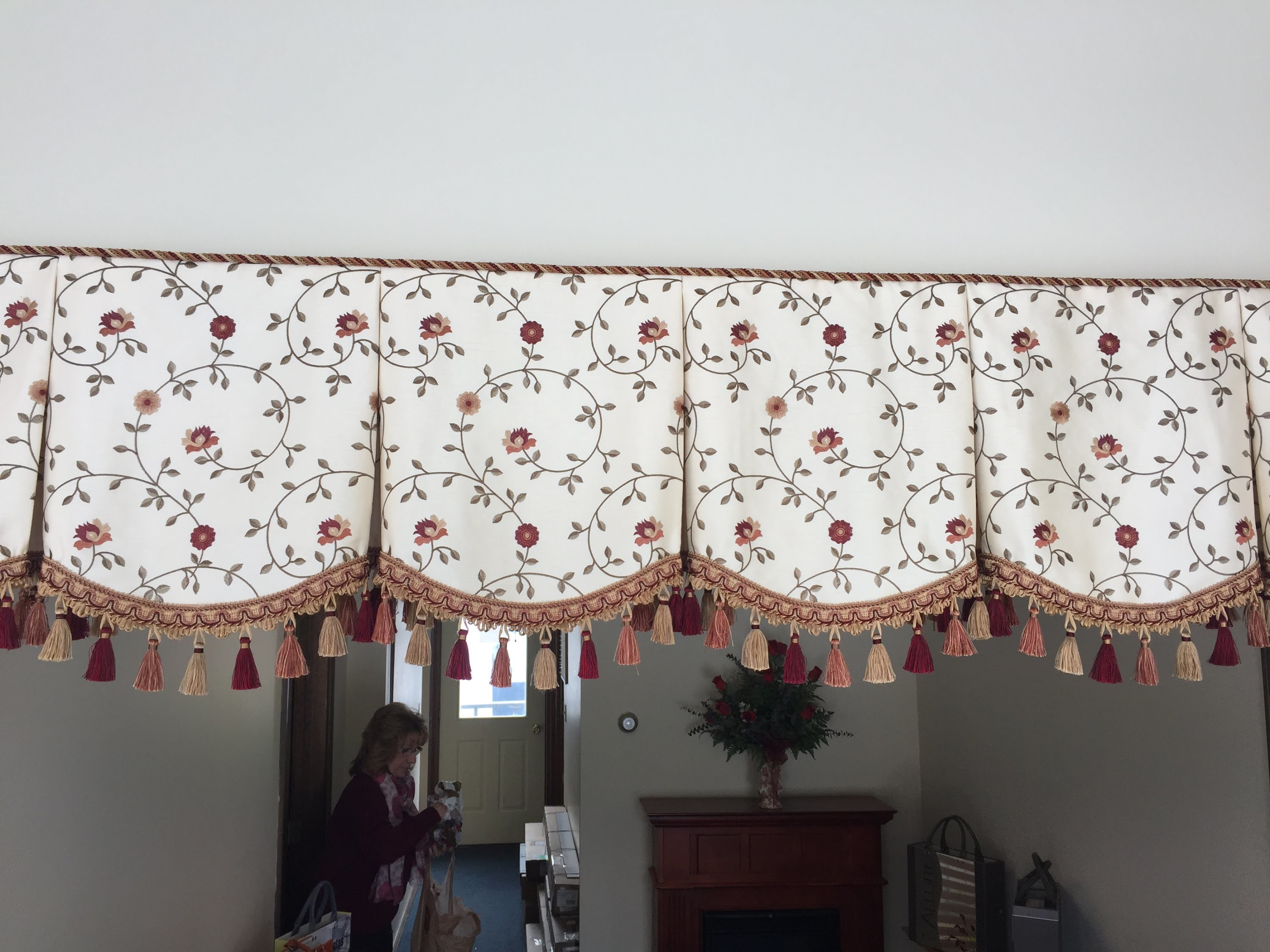 Finish off the top of your valance with welting or braid cord without sewing!