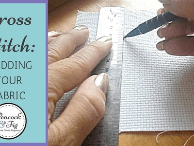Gridding fabric for cross stitch