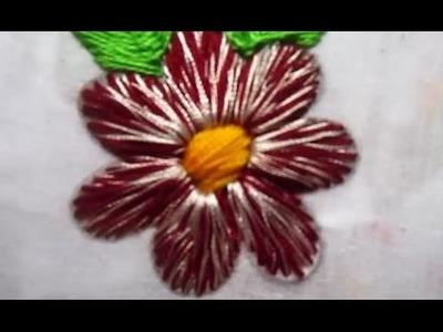 Hand embroidery | Beautiful flower | Flower stitch
