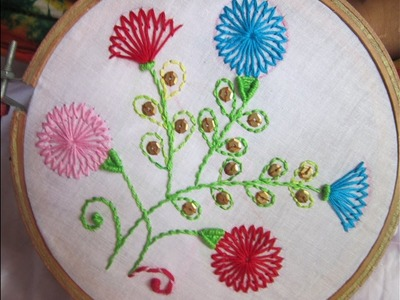 Hand Embroidery Designs | Shafali flower stitches | Stitch and Flower-82