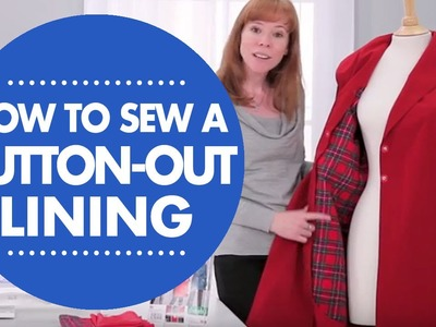 How to Sew a Button-Out Lining with Simplicity Pattern 1015