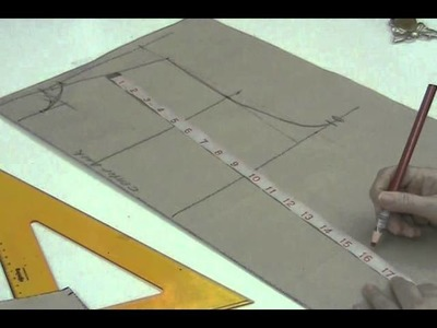 Lesson 2-31  EXTRA LARGE Back Bodice Part 2 - PATTERN MAKING OF A BASIC DRESS WITH WAISTLINE