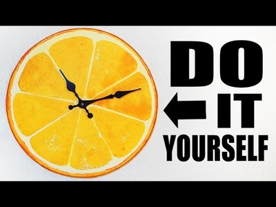 ORANGE CLOCK -  DO IT YOURSELF