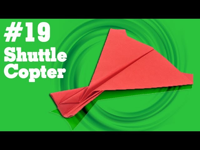 Origami easy - How to make a easy paper airplane glider that