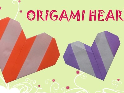 Origami Heart (Two Color) - Origami Easy