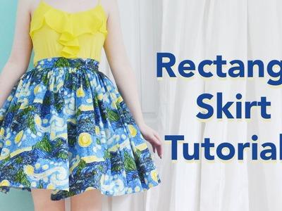 Rectangle Skirt Tutorial. Starry Night Skirt