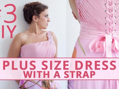 Sew Plus Size Dress with a Strap and Drapery. Part 3