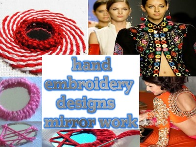 Simple embroidery designs   hand embroidery designs mirror work