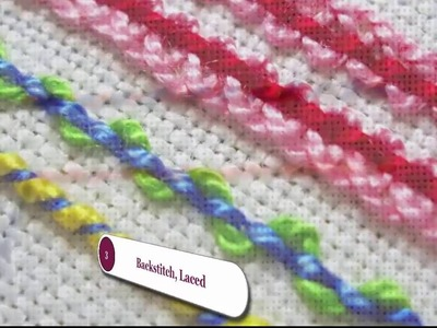Simple Hand Embroidery - Backstitch and Basket Stitch