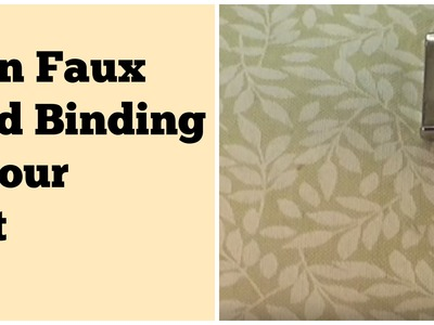 The Quilt Show Tutorial: Faux Piped Binding