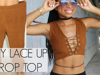 Thrifted Transformation | Lace Up Crop Top | India Ariel
