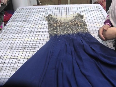 Trailed ball gown