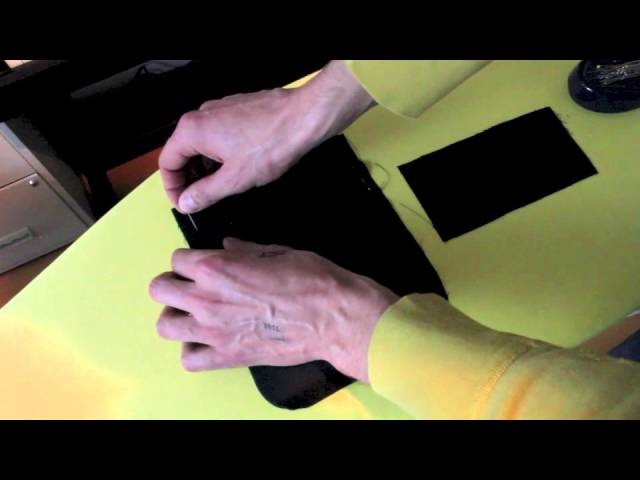 Trousers from scratch, Part 4a: Constructing the back pockets. Section A: Preparing the welt pocket