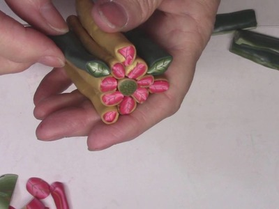 TupeloDesignsLLC DT Project - Polymer Clay Poinsettia Cane Part 2