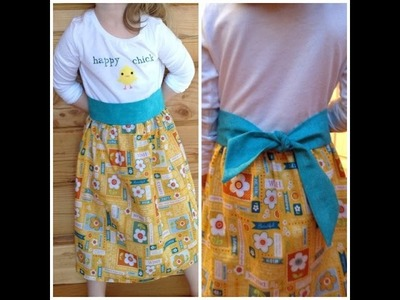 Upcycling a T-Shirt into a Dress - Perfect Beginner Sew Project