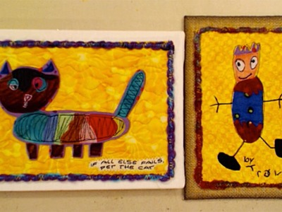 Ustream: Kid Art Inspired Art Quilt - HowToGetCreative.com with Barb Owen