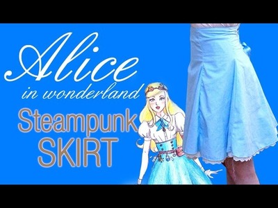 Cosplay Making of - Alice in wonderland high-waisted skirt