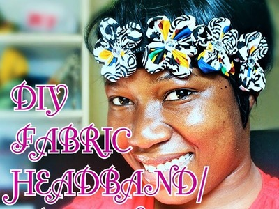 Diy African fabric flower headband  Crown 002