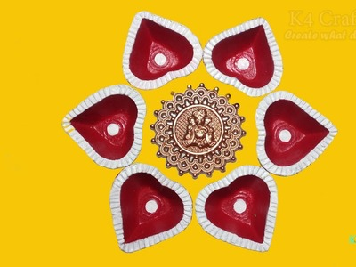 DIY: How to color and decorate Homemade Diwali Diya -Diwali Special Decoration