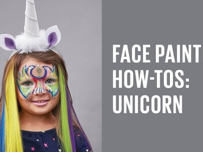 Halloween face painting for kids: Unicorn