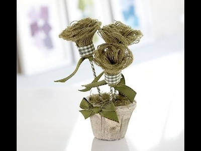 Hessian.burlap no-sew flowers by Debbie Shore