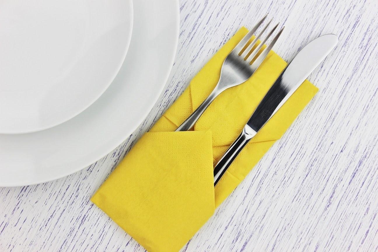 How to fold a napkin into a pocket - Easy tutorial - DIY
