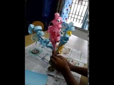 How to make flower with chart paper