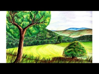 How to Paint a Realistic Landscape with Colored Pencil: Fine Art With Chip Colored Pencils