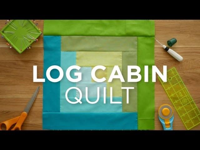 Make an Easy Log Cabin Quilt Block! Quilt Snips