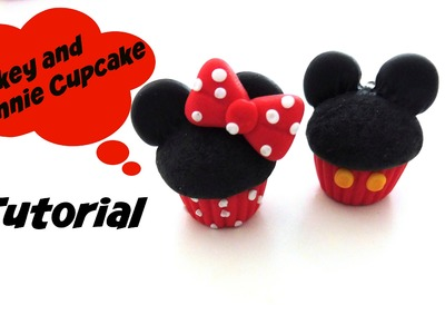 Mickey and Minnie Mouse Cupcakes ~ Polymer Clay Tutorial