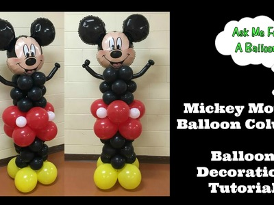 Mickey Mouse Balloon Column Tutorial