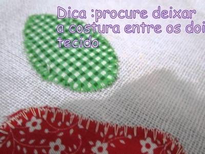 Patch aplique na maquina de costura simples