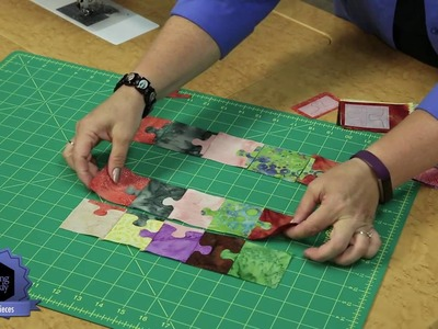 Quilting Quickly: Puzzle Pieces - A Wall Quilt with Batik Puzzle Pieces!