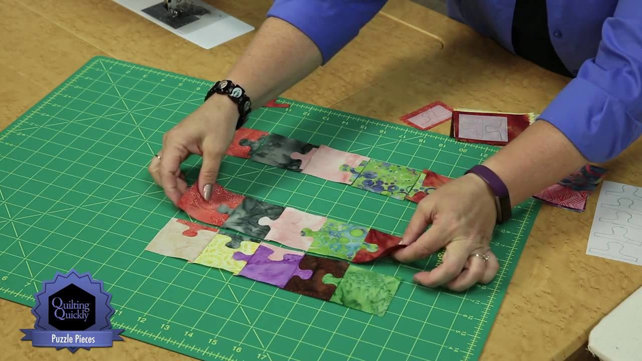 Quilting Quickly Puzzle Pieces A Wall Quilt With Batik
