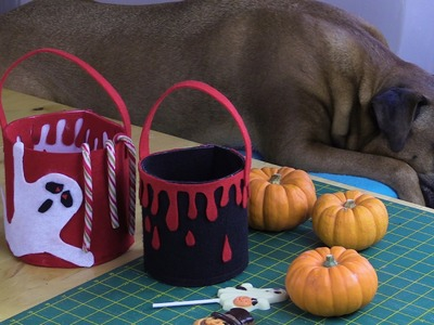 Trick or treats bcukets for you to sew by Debbie Shore