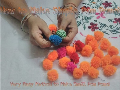 [DIY] How to Make Simple Pom Poms Out Of Wool. Small Pom Poms