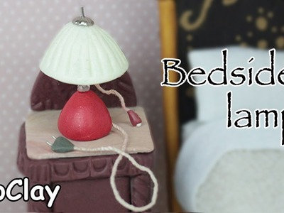 Dollhouse furniture - Bedside lamp miniature - Polymer clay tutorial